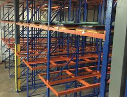 PEPSI 8 Deep Twin load drive in rack with 6 Deep Push Back